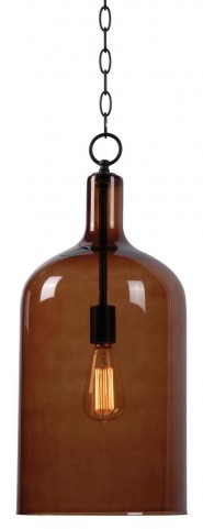 Capri Oil Rubbed Bronze 1 Light Pendant