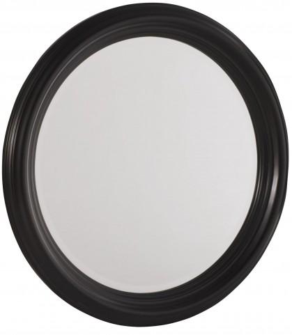 Camden Black Round Mirror