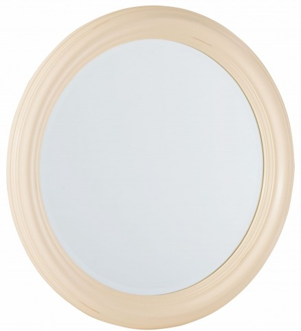 Camden Buttermilk Round Mirror