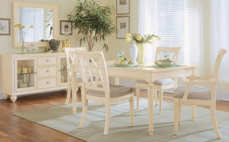 Camden Buttermilk Leg Extendable Dining Room Set