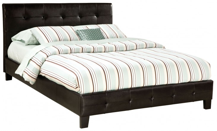 Rochester Black Queen Upholstered Bed