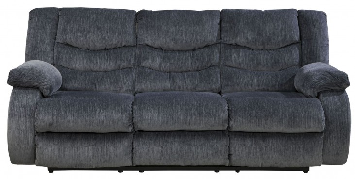 Garek Blue Reclining Sofa