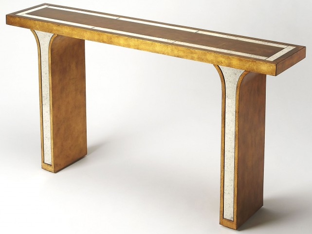 Katya Gold Leaf Console Table