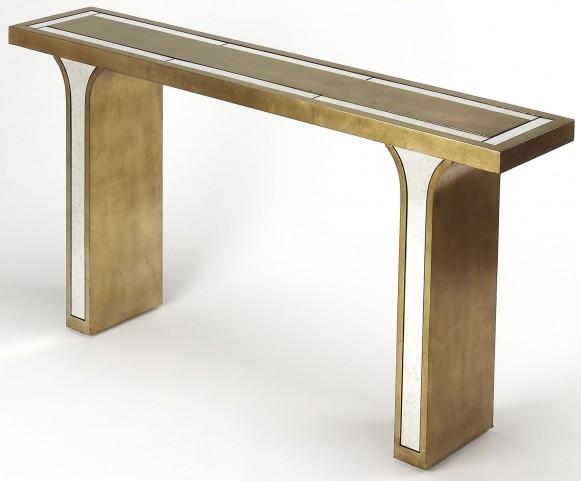 Katya Silver Leaf Console Table