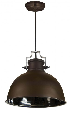 Nautilus Antique Bronze and Nickel 1 Light Pendant