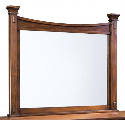Artisan Loft Warm Medium Oak Landscape Mirror
