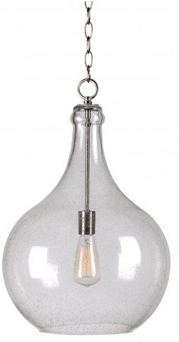 Rhone Brushed Steel 1 Light Pendant