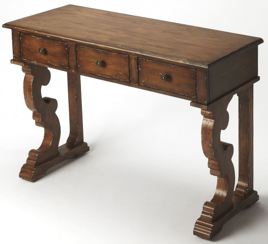 Caravaggio Distressed Brown Console Table