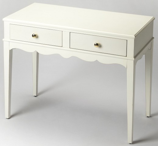 Marisol Cottage White Console Table