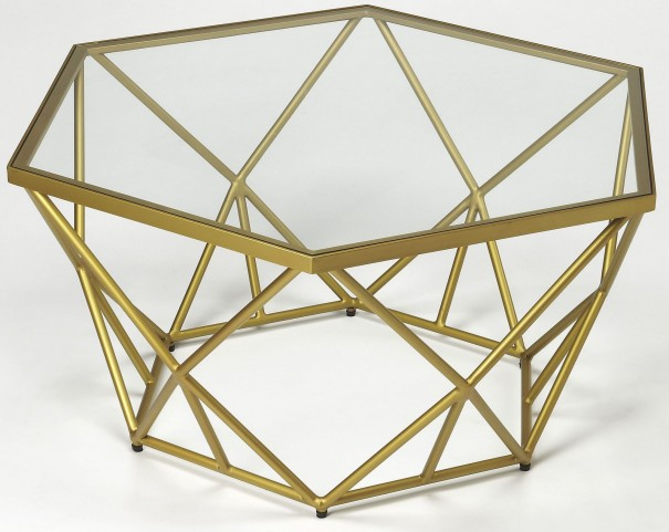 Alondra Gold Powder Coated Cocktail Table