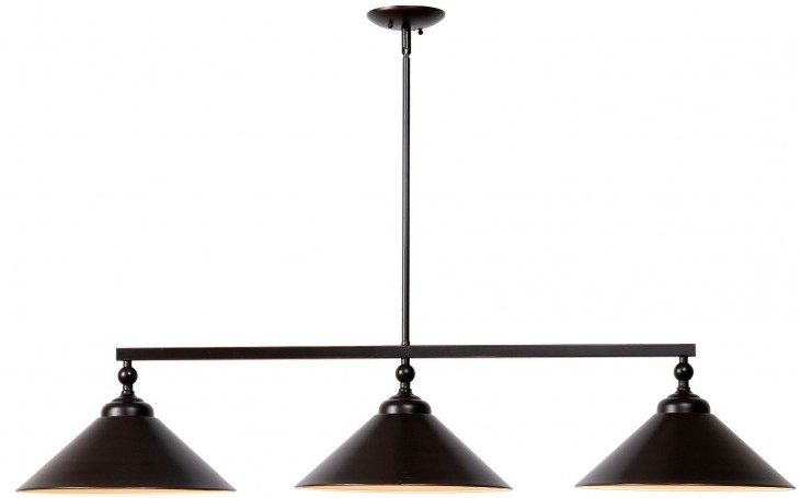 Conical Brushed Steel 3 Light Pendant