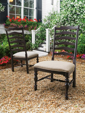 Paula Deen Home Tobacco Mike's Side Chair Set of 2