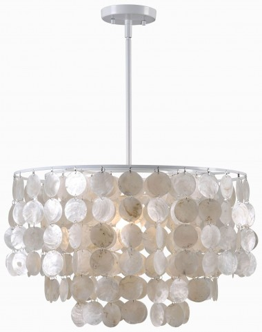Shelley White 1 Light Pendant