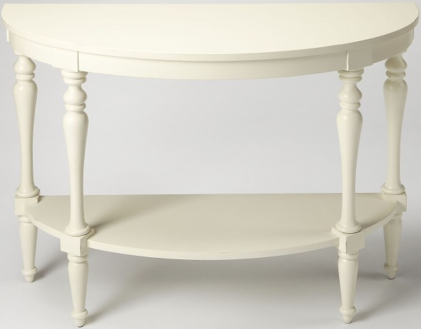 Masterpiece amherst white demilune console table 9345288 butler - White demilune console table ...