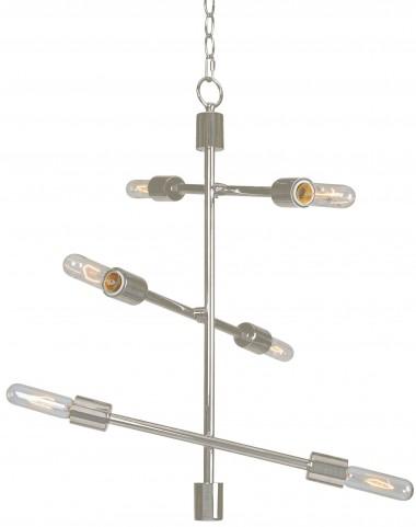 Swiv >Brushed Steel 6 Light Chandelier