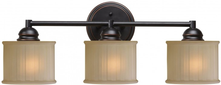 Barney Oil Rubbed Bronze 3 Light Vanity