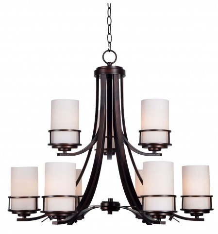Theo Polished Copper 6 + 3 Light Chandelier