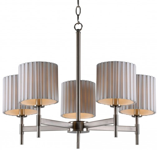 Grace Brushed Steel 5 Light Chandelier