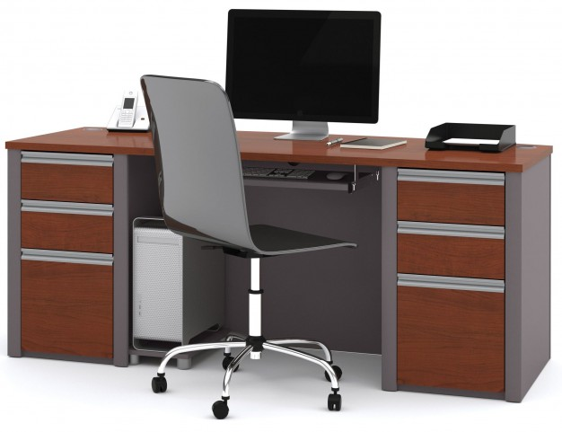 Connexion Bordeaux & Slate Executive Desk Set