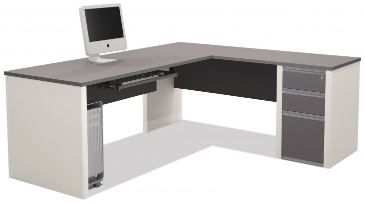 Connexion Slate & Sandstone L-Shaped Desk