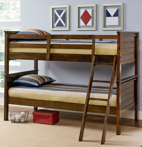 Cameron Youth Warm Tobacco Brown Bunk Bedroom Set