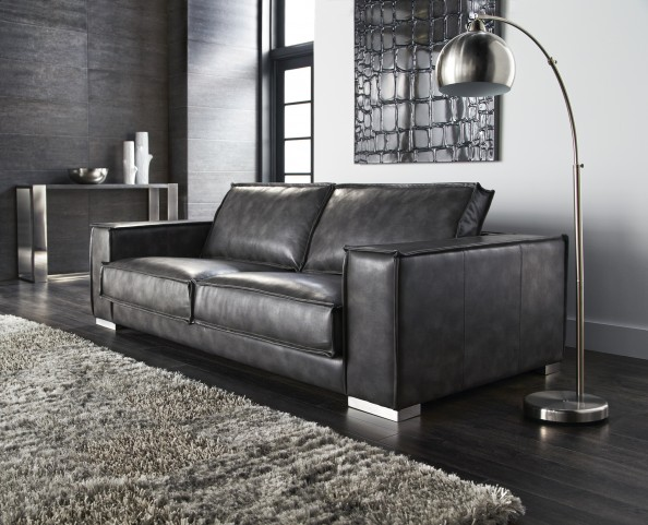 Baretto Sofa In Grey Nobility