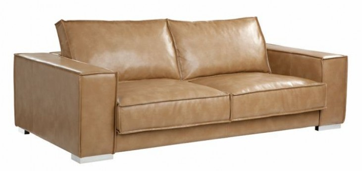 Baretto Peanut Leather Sofa