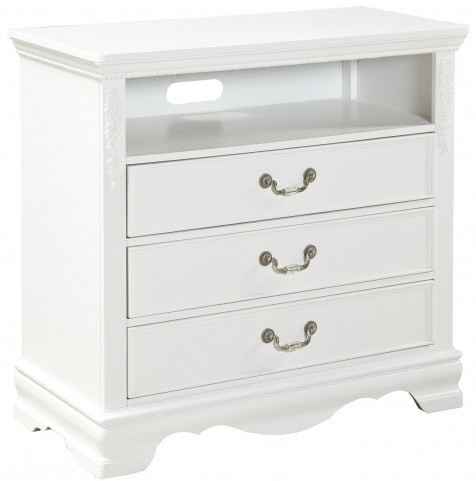 Jessica Clean White Entertainment Console
