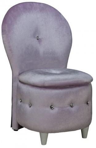 Sit N' Store Lavender Velvet Storage Stool