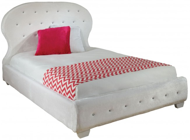 Marilyn White Twin Upholstered Bed