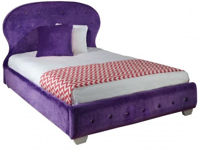 Marilyn Purple Full Upholstered Bed