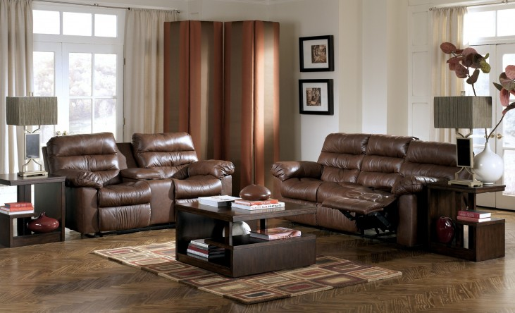 Memphis Brown Power Reclining Living Room Set Ashley Furniture 94400 Living Room Furniture
