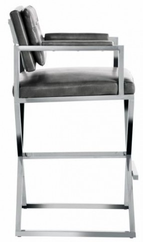 Equinox Barstool In Grey Nobility