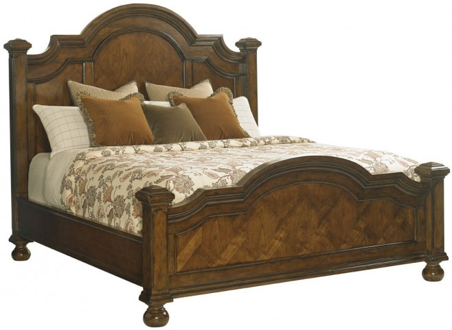 Coventry Hills Autumn Brown Roxbury Queen Panel Bed