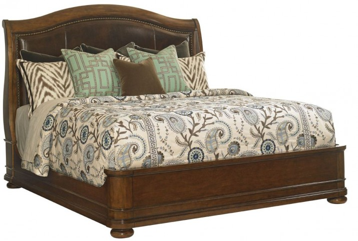 Coventry Hills Autumn Brown Chandler Mills Cal. King Sleigh Bed