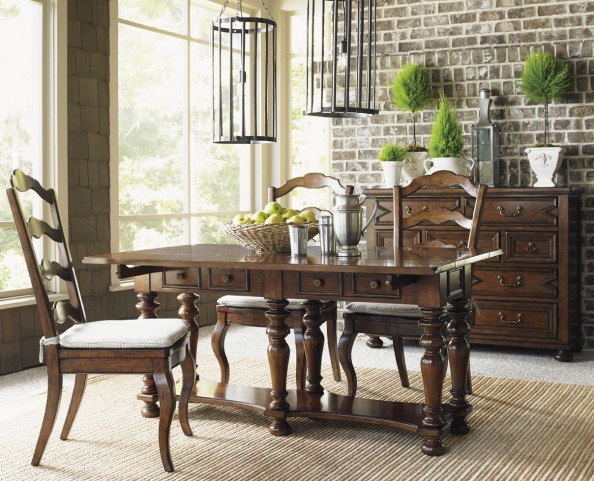 Coventry Hills Autumn Brown Rexford Flip Top Dining Room Set