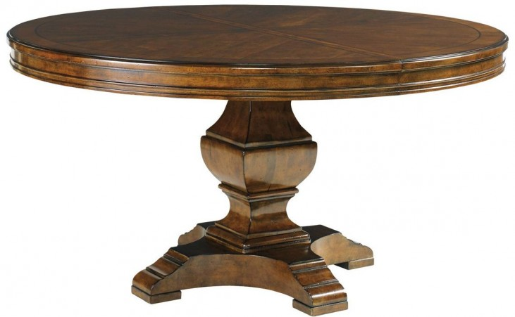 Coventry Hills Autumn Brown Ridgeview Round Dining Table