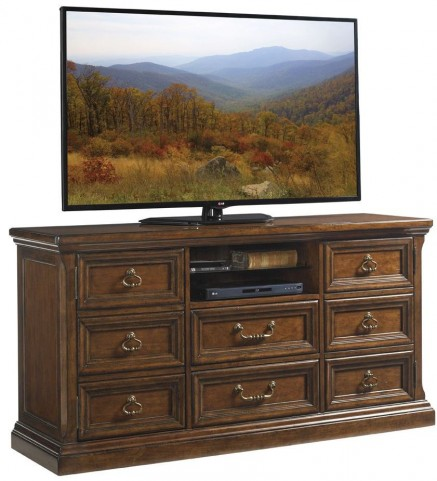 Coventry Hills Autumn Brown Province Town Media Console