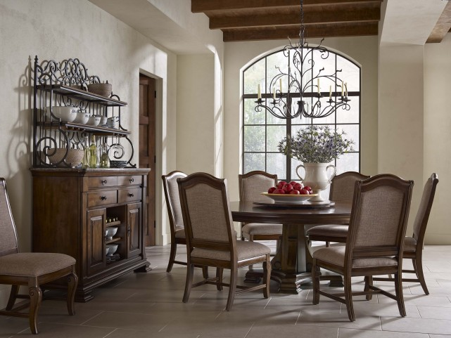 portolone 72 quot round dining room set 95 053t 052b kincaid elise counter height table dining room set by kincaid