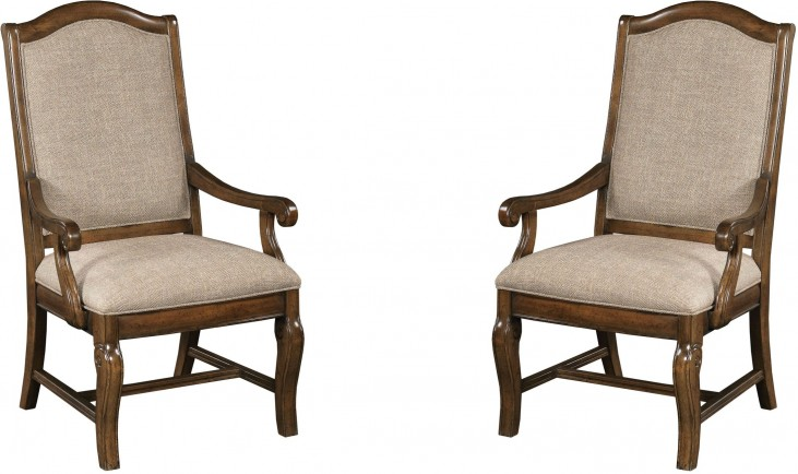 Portolone Upholstered Arm Chair Set of 2