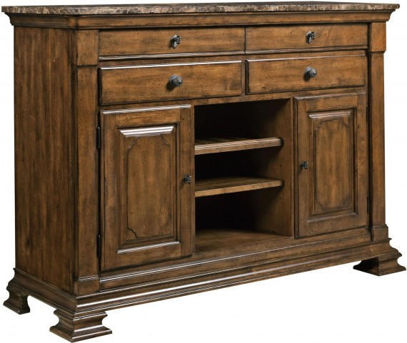 Portolone Marble Top Sideboard