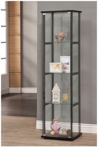 950171 Black Curio Cabinet