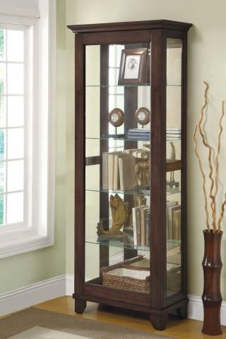 Medium Brown Curio Cabinet