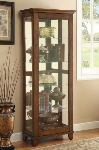 950188 Warm Brown Curio Cabinet