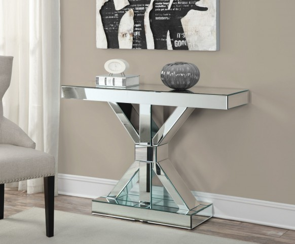 950191 Chrome Console Table