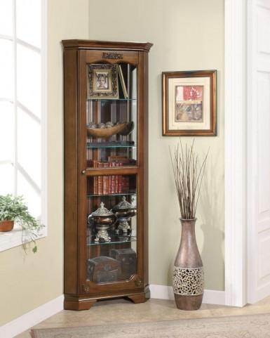 Cherry Corner Curio Cabinet 950195
