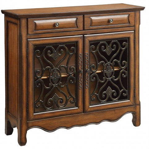 Brown 2 Drawer Accent Cabinet