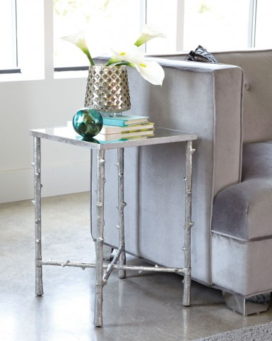 Silver Accent Table