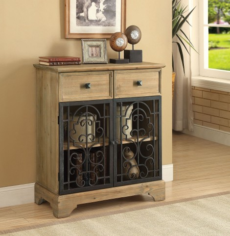 Raw Wood 2 Drawer Accent Table