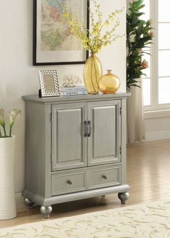 Glamorous Metallic 1 Drawer Accent Cabinet